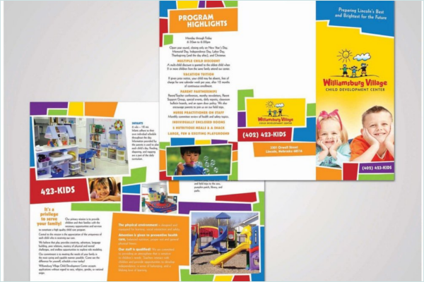 Daycare Brochure Templates Free Design Ideas - Daycare brochure template