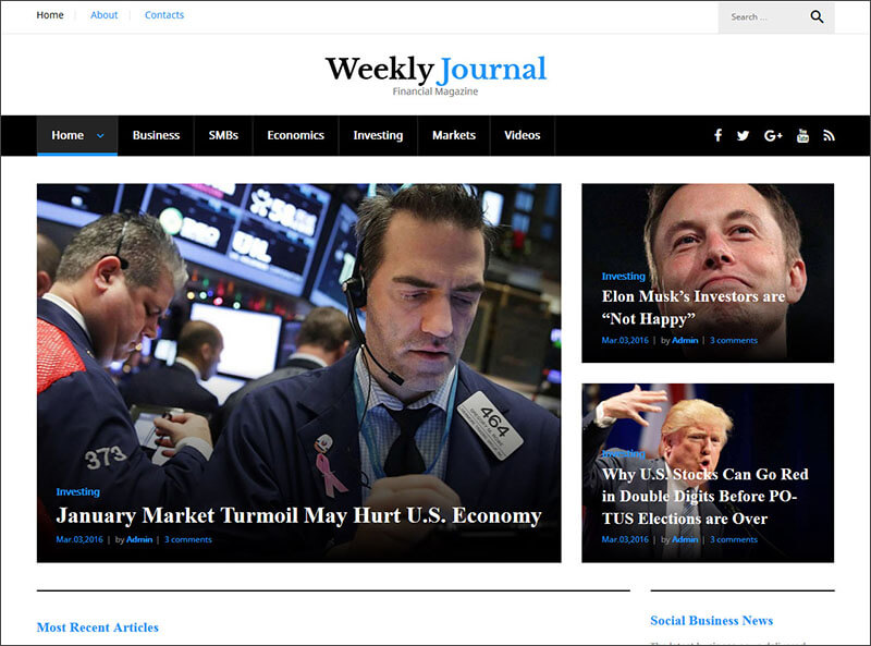 Financial Magazine WordPress Theme
