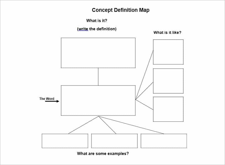 Free Concept Map Template Word
