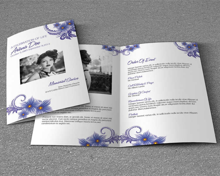 37 funeral brochure templates free word psd pdf example for Memorial pamphlets free templates