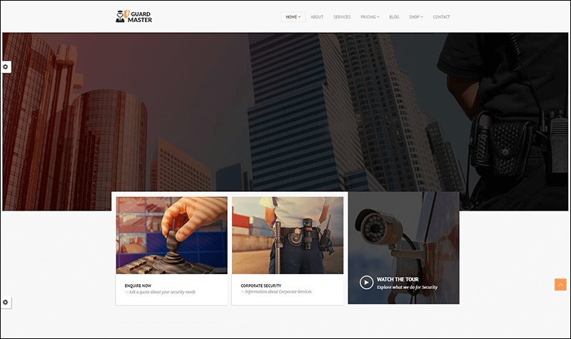 Guard Master - Security - Services WordPress Theme
