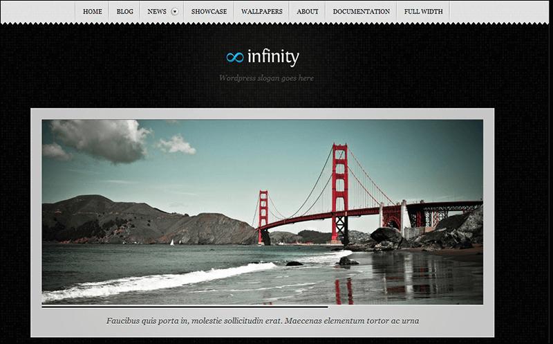 Infinity - Blog & Portfolio theme