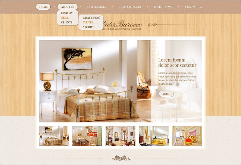 Interior Design Drupal Template 3