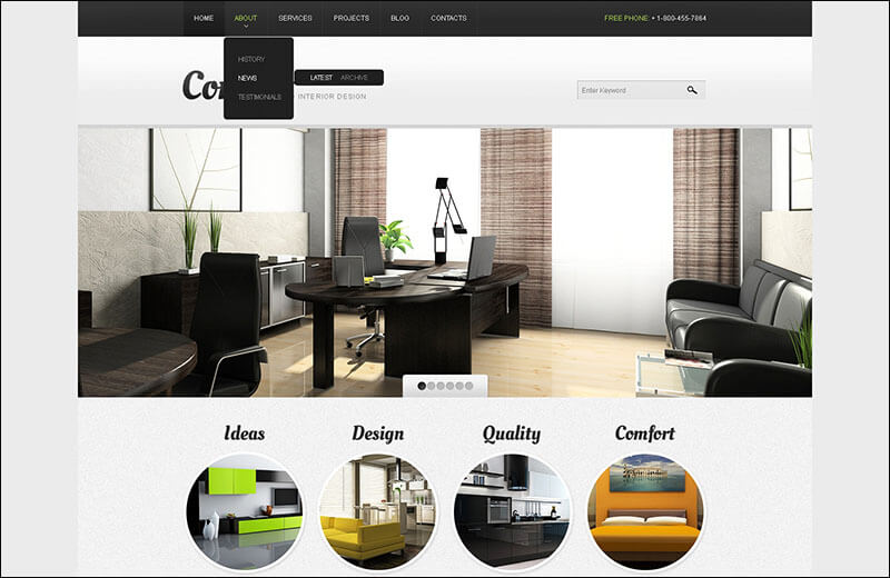 Interior Design Drupal Template 4