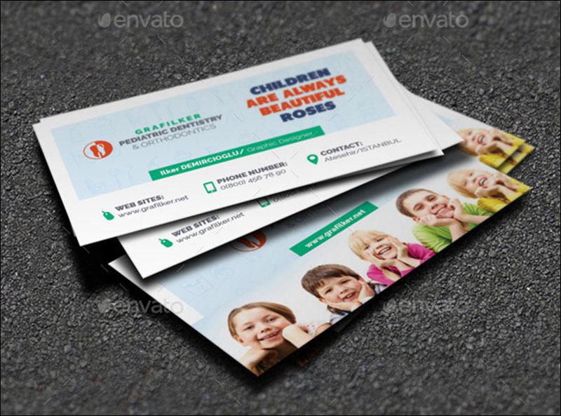 Kids Dental Business Card Templates