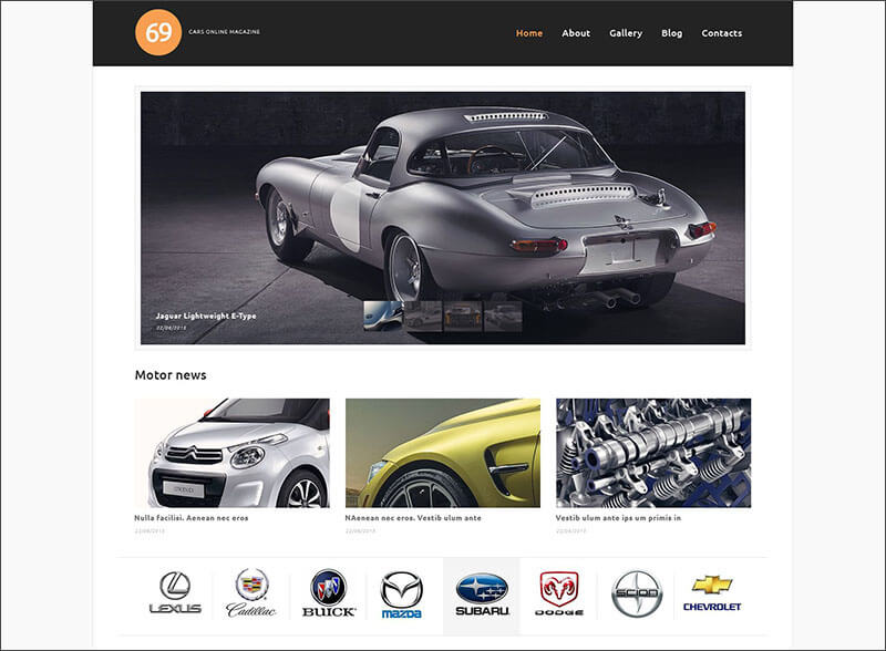 Latest Magazine WordPress Themes For Cars