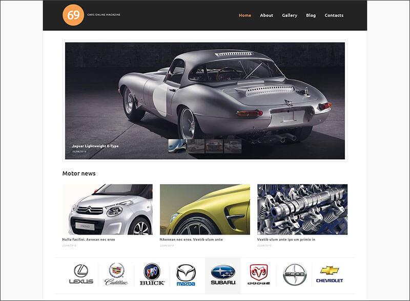 Latest Magazine WordPress Themes For Cars