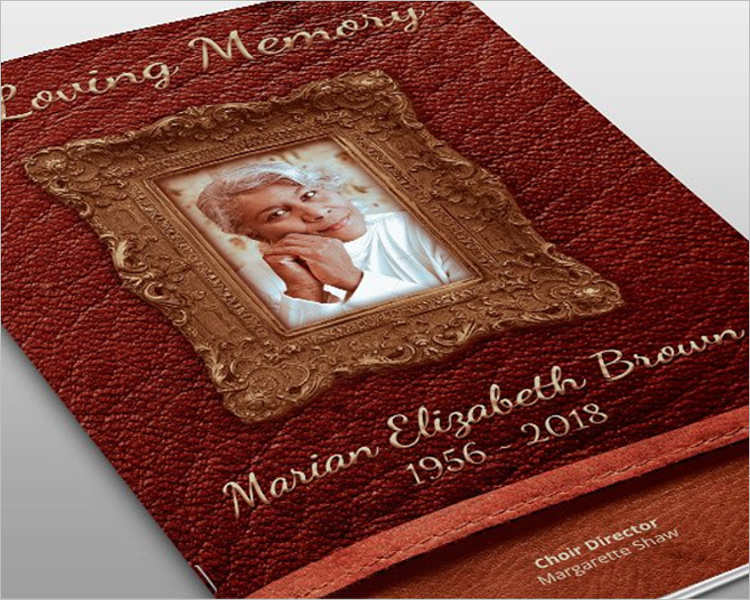 leather-framed-funeral-brochure-templates