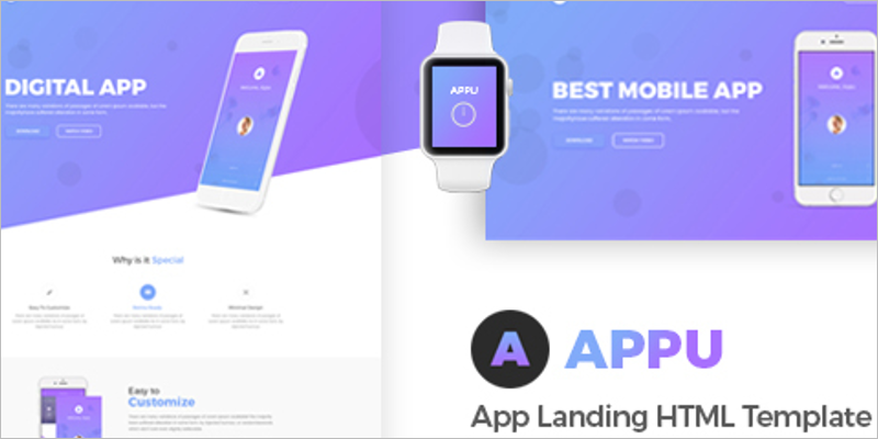 One Page Landing Page Template