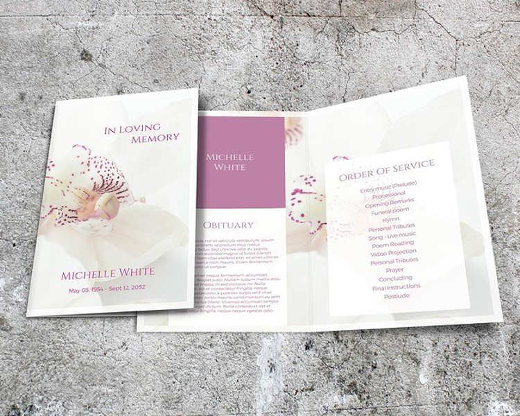 orchid-funeral-brochure-templates