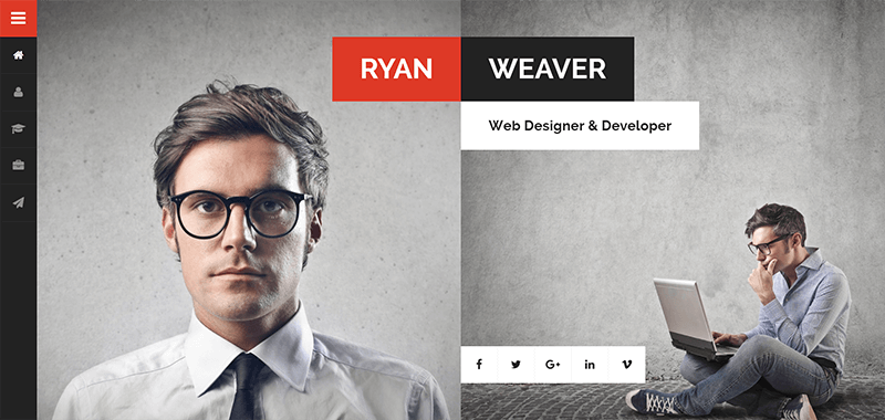 Personal Vcard Resume WordPress Theme