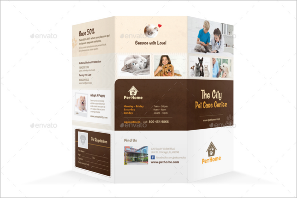 Pet Care Brochure Template