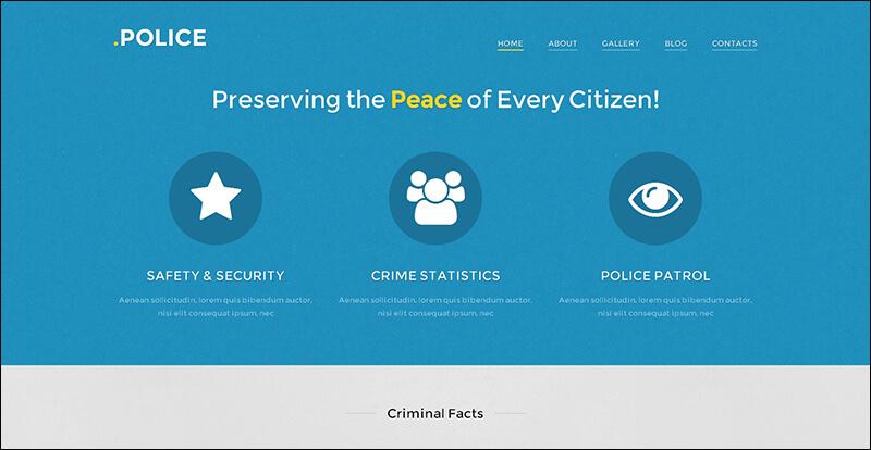 Police Responsive WordPress Theme 2