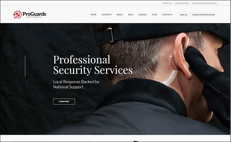 ProGuards - Safety & Security WordPress Theme