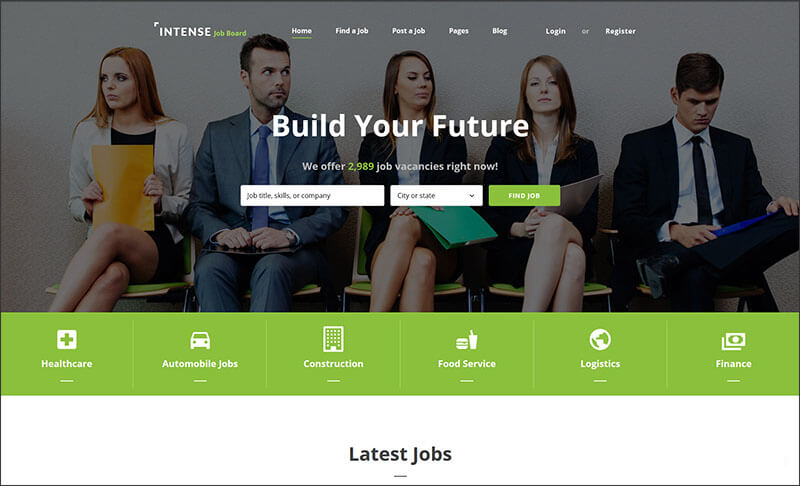 Responsive Job Board Website Template