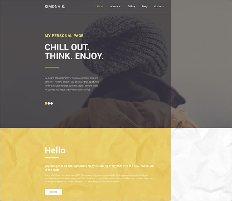 Responsive Personal WordPress Theme