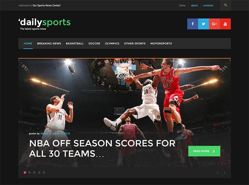 Responsive & Sports WordPress Theme