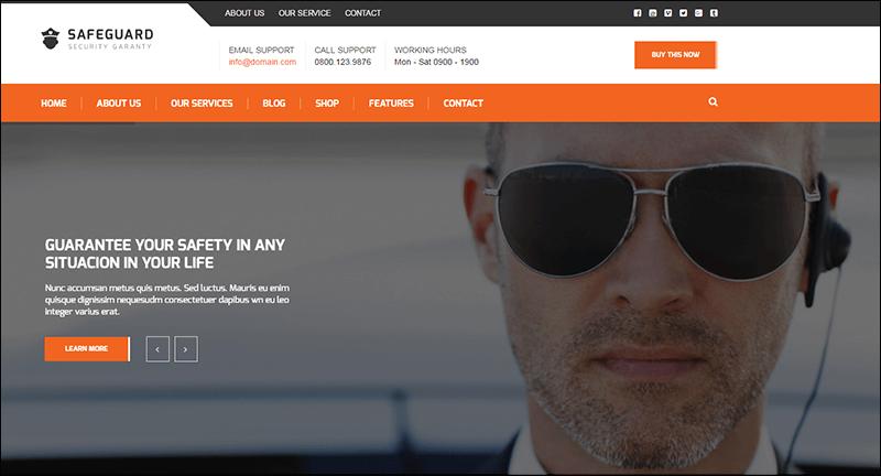Safeguard - Security Services WordPress theme
