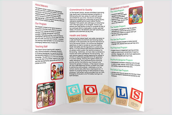 Sample Daycare Brochure Template
