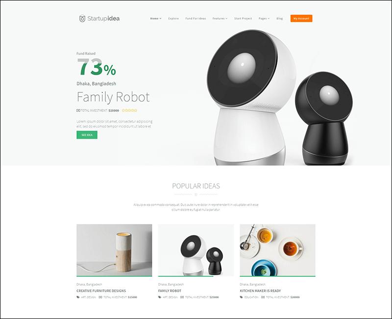 Startup Idea - Crowdfunding WordPress Theme