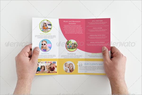 Tri-Fold Daycare Brochure Template