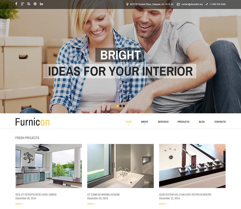 Furniture & Interior Design Responsive Drupal Theme