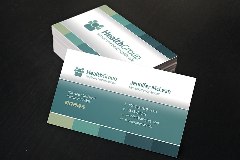 Business Card Template for Healthcare