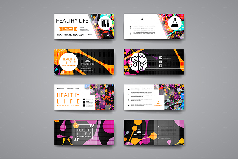 set of business cards for healthcare