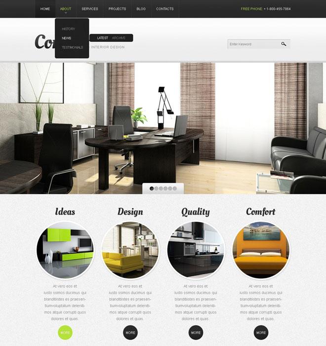 Free Drupal Furniture Theme