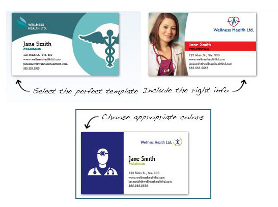 Free and Custom Business Card for Hospital