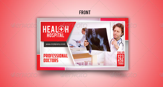 Health Hospital Business Card Templates