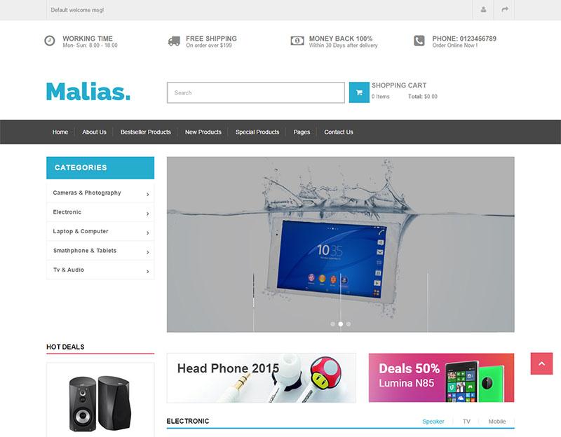 Responsive Drupal Commerce Theme