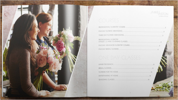 festive floral brochure