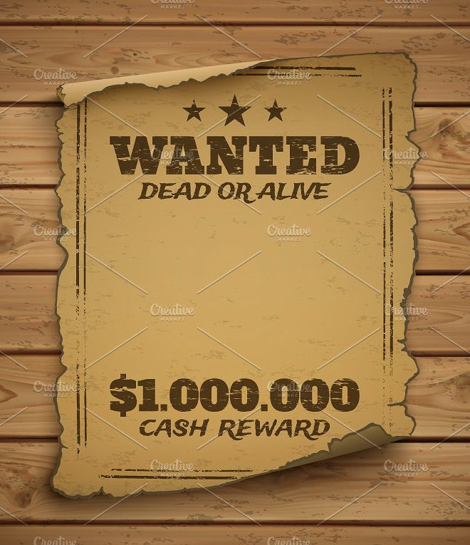 download wanted poster template microsoft word