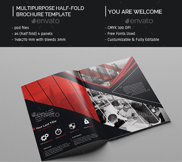 Bi Fold Brochure Templates Free Premium Creative Template - Two fold brochure template free