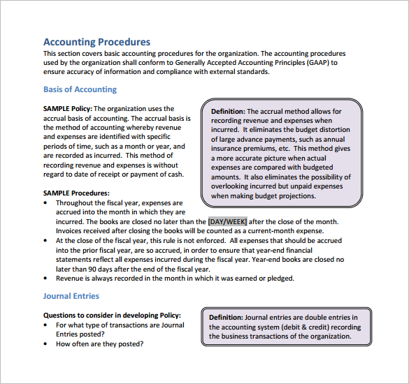 Policy And Procedure Templates  Word  Pdf Download  Creative