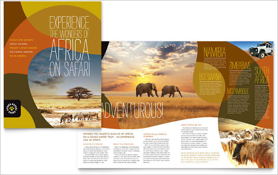 african-safari-brochure-template