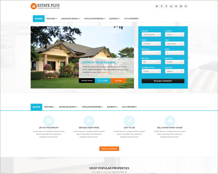 Amazing Real Estate HTML5 Website Template