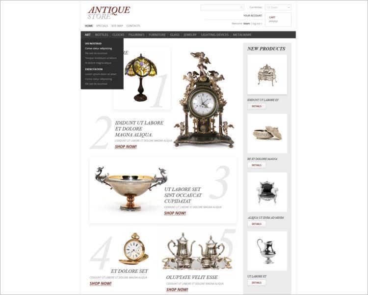 antique-store-prestashop-them-template