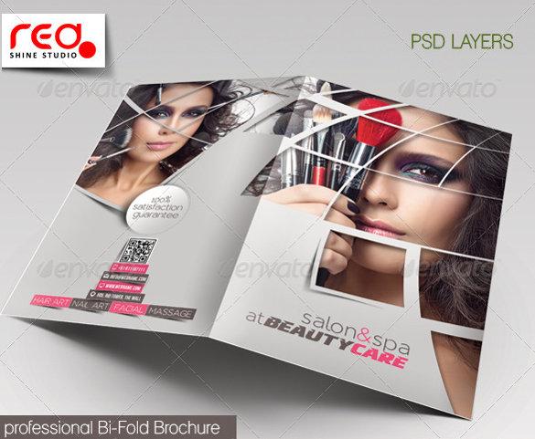 beauty-care-bi-fold-brochure-template