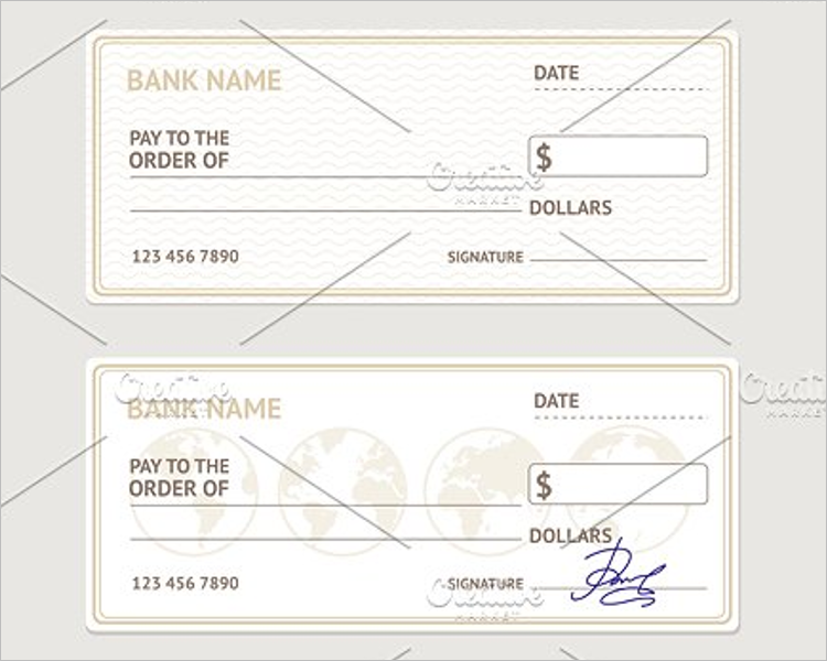 Blank Check Vector Template
