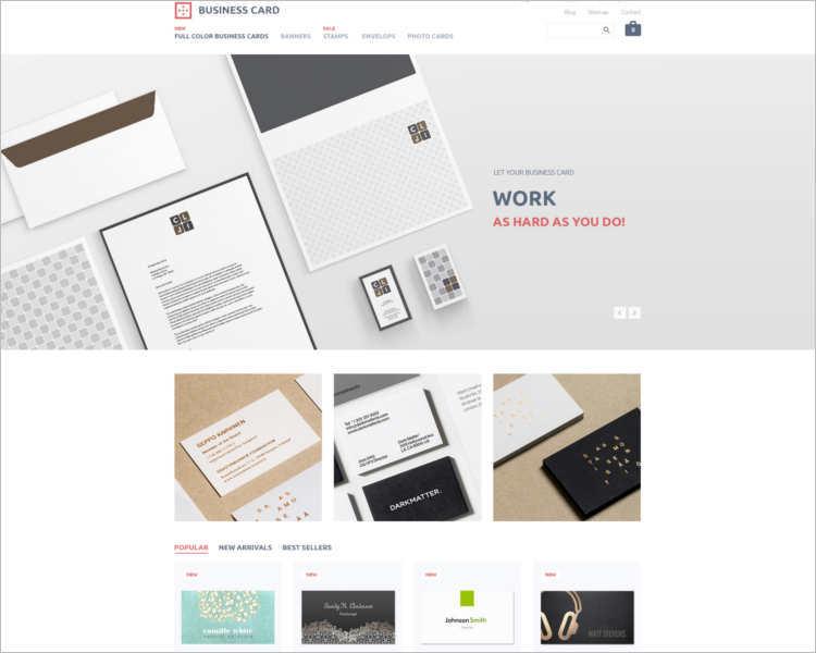business-card-prestashop-them-template