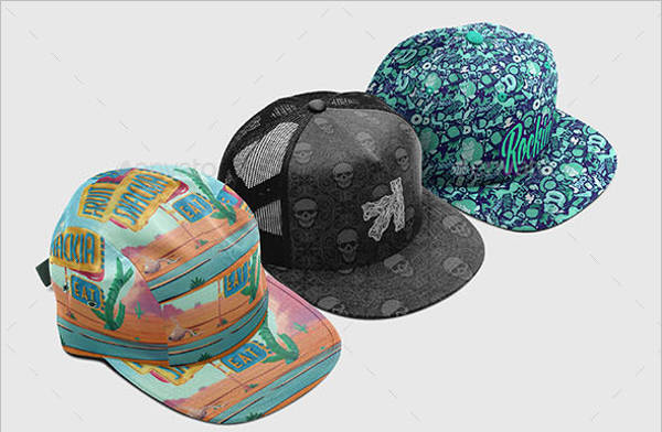 Cap Collection Mockup