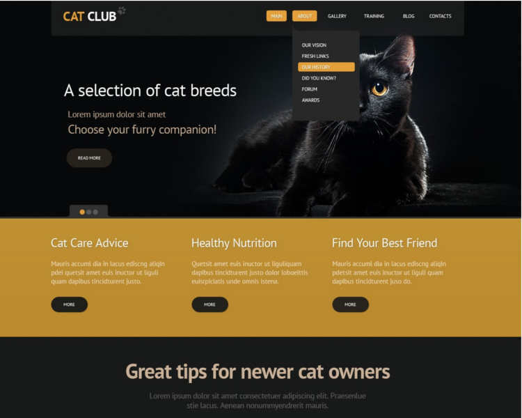 cat-breeds-joomla-template