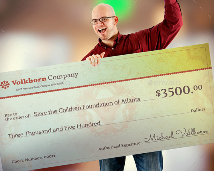 Charity Check Template