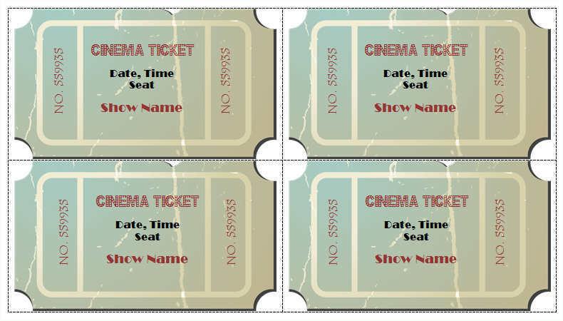 cinema-show-time-ticket