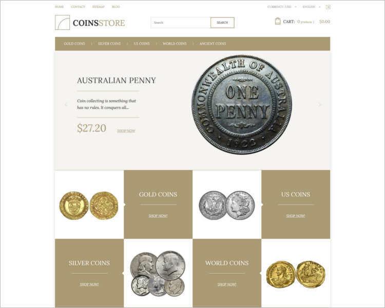 coin-store-prestashop-them-template
