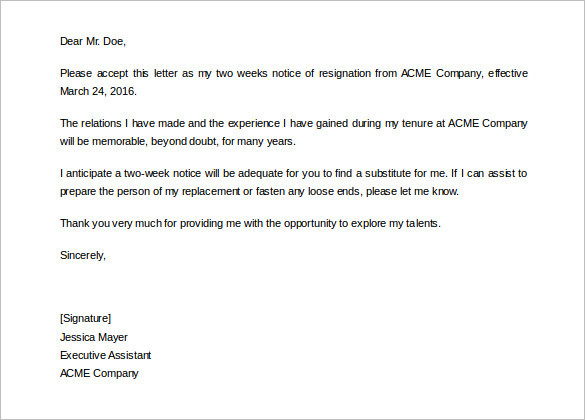 company-two-weeks-notice-templates