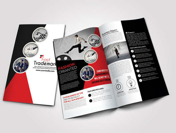 53 bi fold brochure templates free premium for Corporate bi fold brochure template