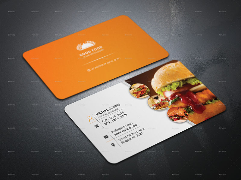 Customizable Restaurant Business Card